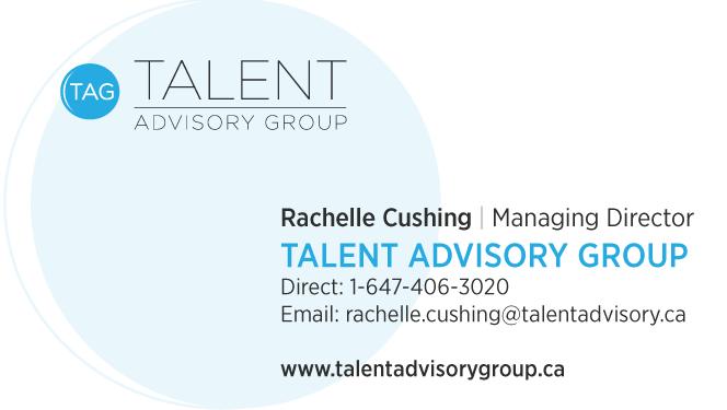 Rachelle Cushing - Managing Director - Talent Advisory Group